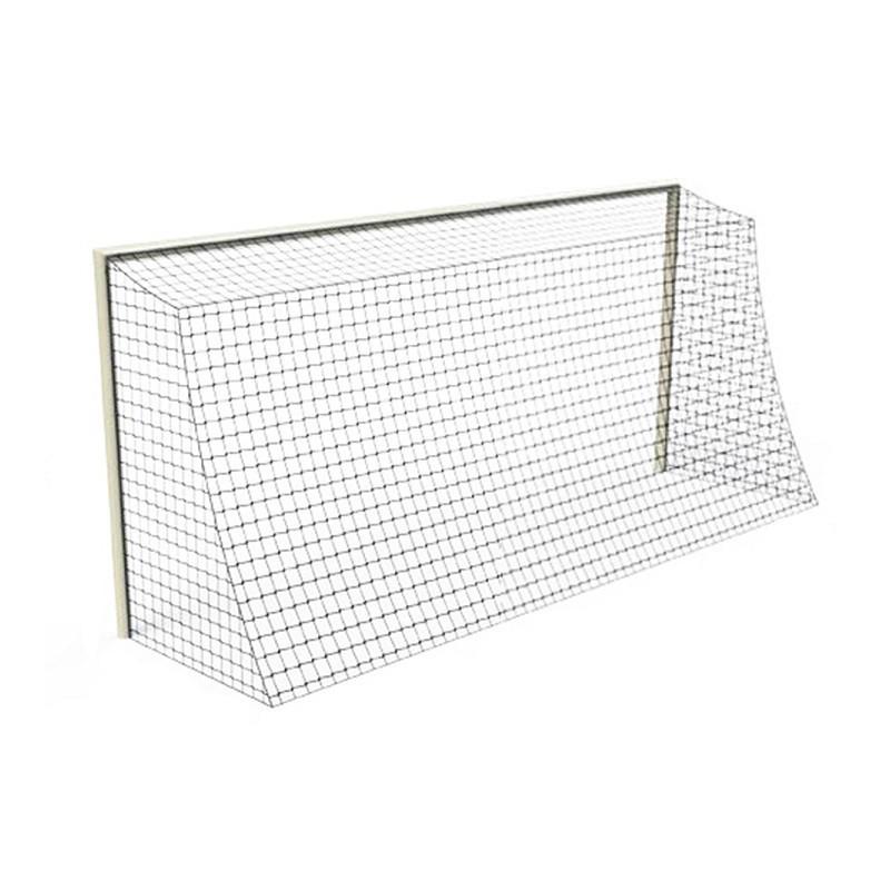 Filets de handball pour mini buts cablés 2mm maille simple 100mm (la paire)