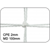 Filets de handball cablés 2mm maille double 100mm (la paire)