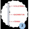 Poteau central de volley-ball entraînement en aluminium à sceller 90mm, Tension par cabestan, Classe C (l'unité)