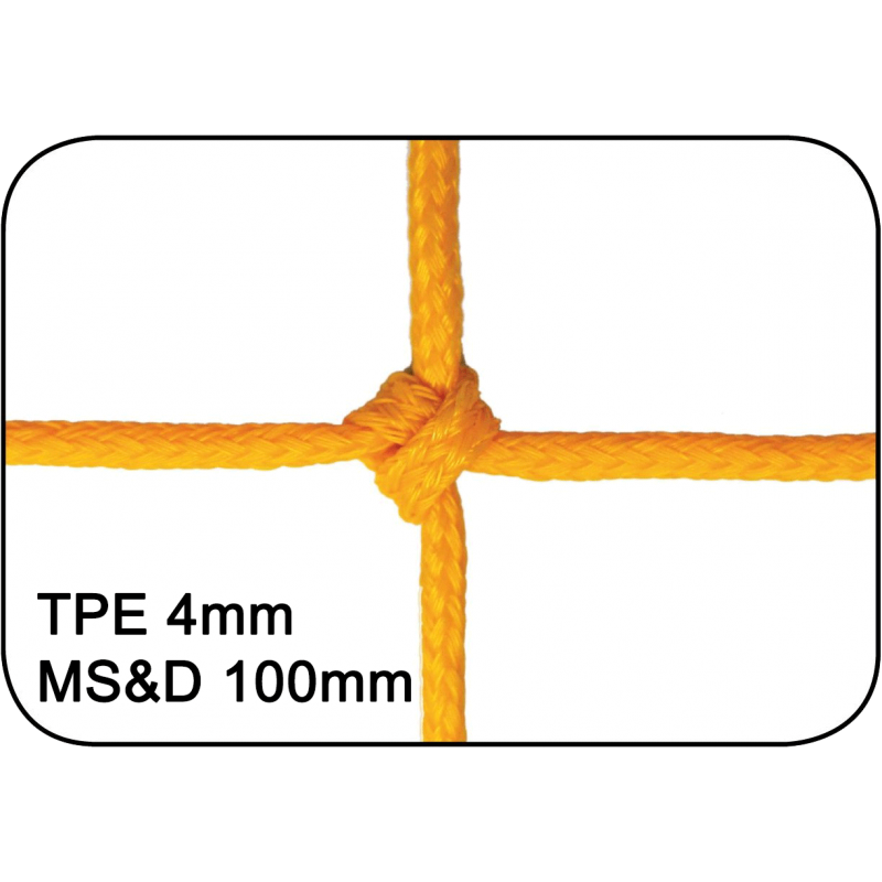 Filets de handball Premium tressés 4mm maille simple et double 100mm (la paire)