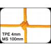 Filets de handball tressés 4mm maille simple 100mm (la paire)