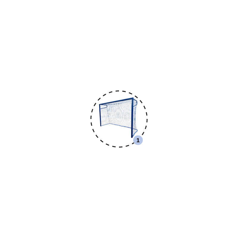 Buts de beach handball en aluminium 3x2m (la paire)