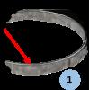 Cercle plat de basket Galvanisé à chaud (l'unité)