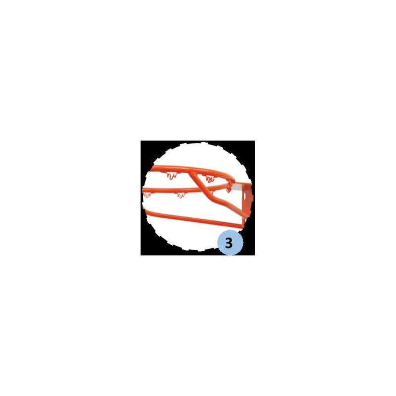 Cercle standard de basket, 4 renforts à queue de cochon (l'unité)