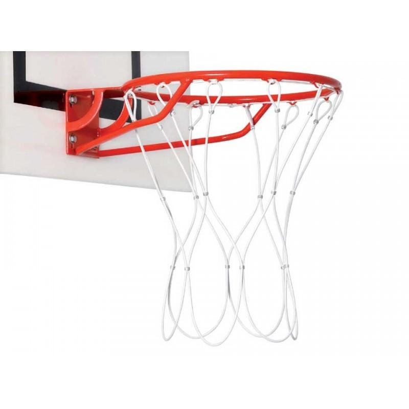 Filet de basket câble acier gainé plastifié 5mm (la paire)
