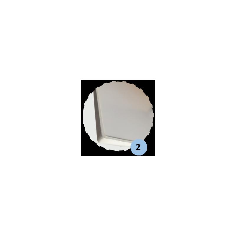 Panneau de basket en fibre de verre 1m20x0,90m (l'unité)