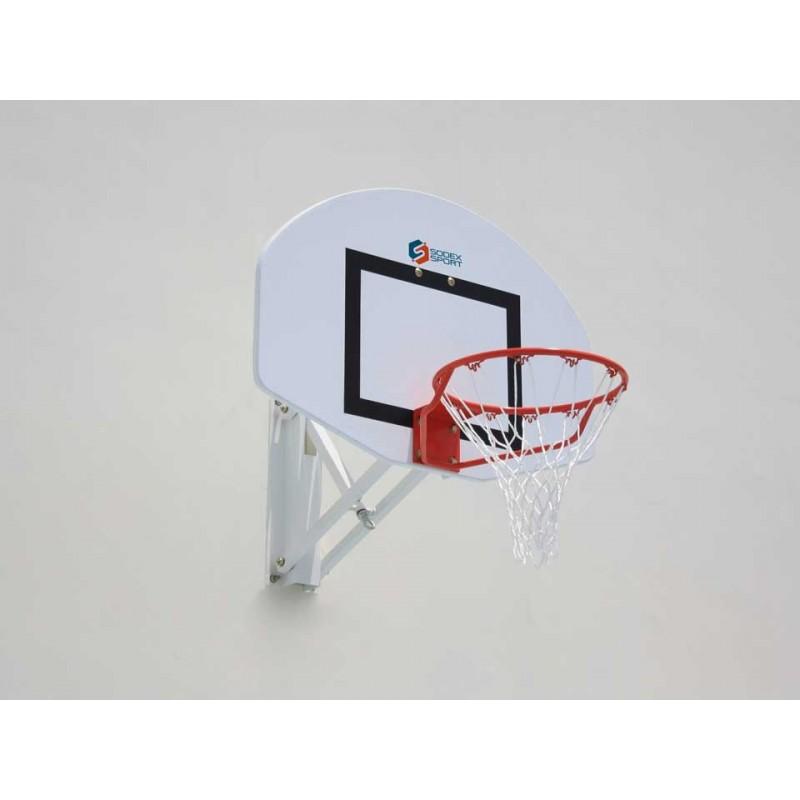 Panneau de basket demi lune en fibre de verre 1,12x0,78m (l'unité)