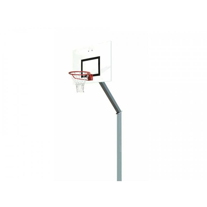 Panier de basket fixe à sceller 100x100mm, hauteur 2m60 (l'unité)