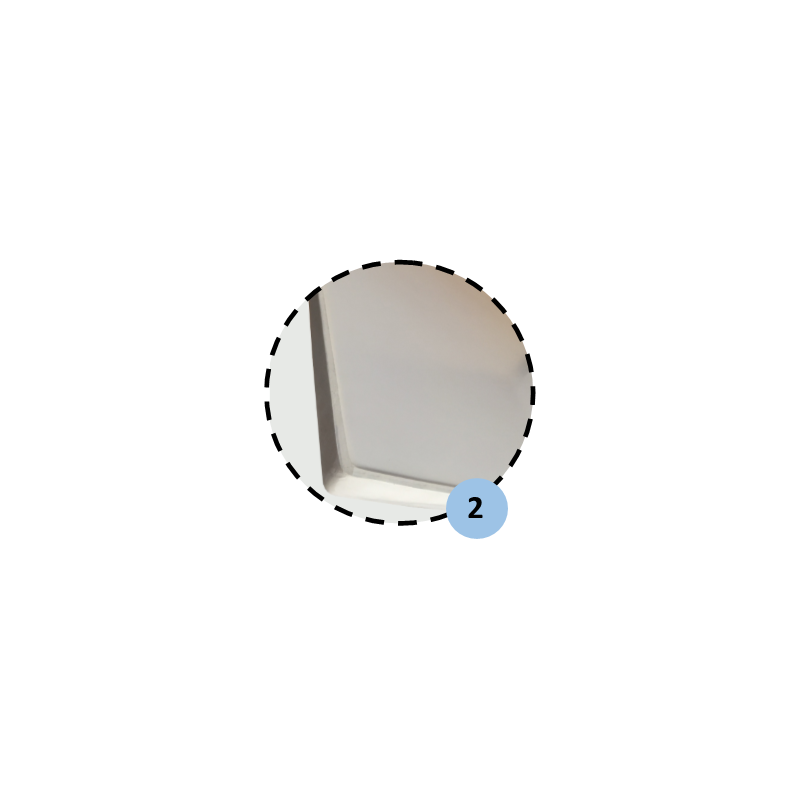 Panneau de basket en fibre de verre 1,80x1,05m (l'unité)