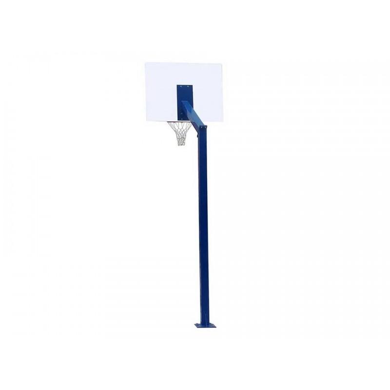 Panier de basket fixe sur platine 100x100mm, hauteur 2m60 (l'unité)