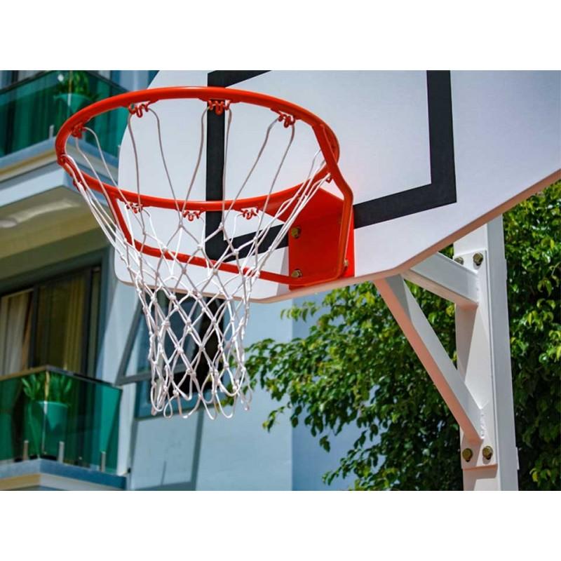 Panier de basket fixe carré à sceller, 2 positions de jeu (l'unité)