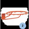 Panier de basket mural fixe (l'unité)