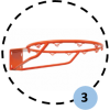 Panier de basket mural et réglable, 2 positions de jeu (l'unité)