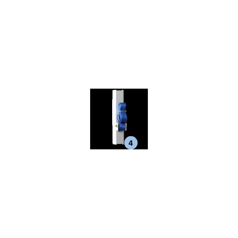 Poteaux de badminton compétition mobiles FFBaD (la paire)