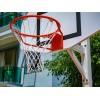 Panier de basket fixe carré sur platine, 2 positions de jeu (l'unité)