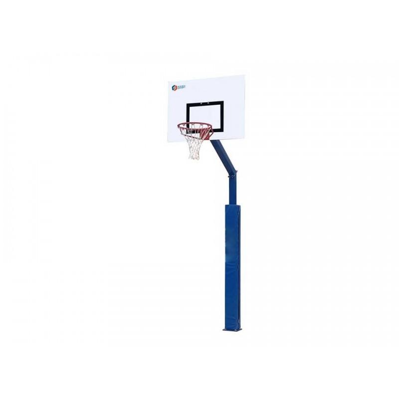 Panier de basket fixe sur platine 100x100mm, hauteur 3m05 (l'unité)