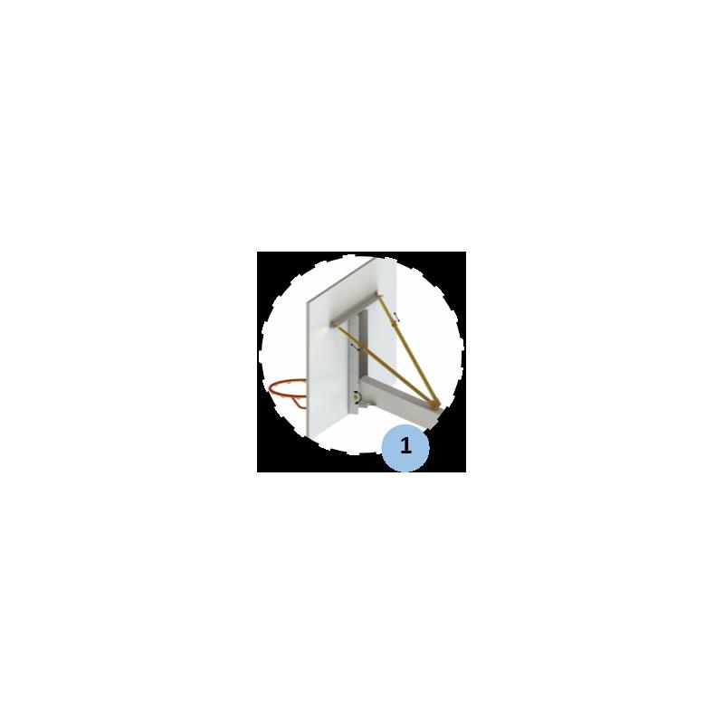 Panier de basket fixe à sceller en acier galvanisé à chaud 140x140mm (l'unité)