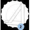Poteaux de badminton compétition sur platine FFBaD (la paire)