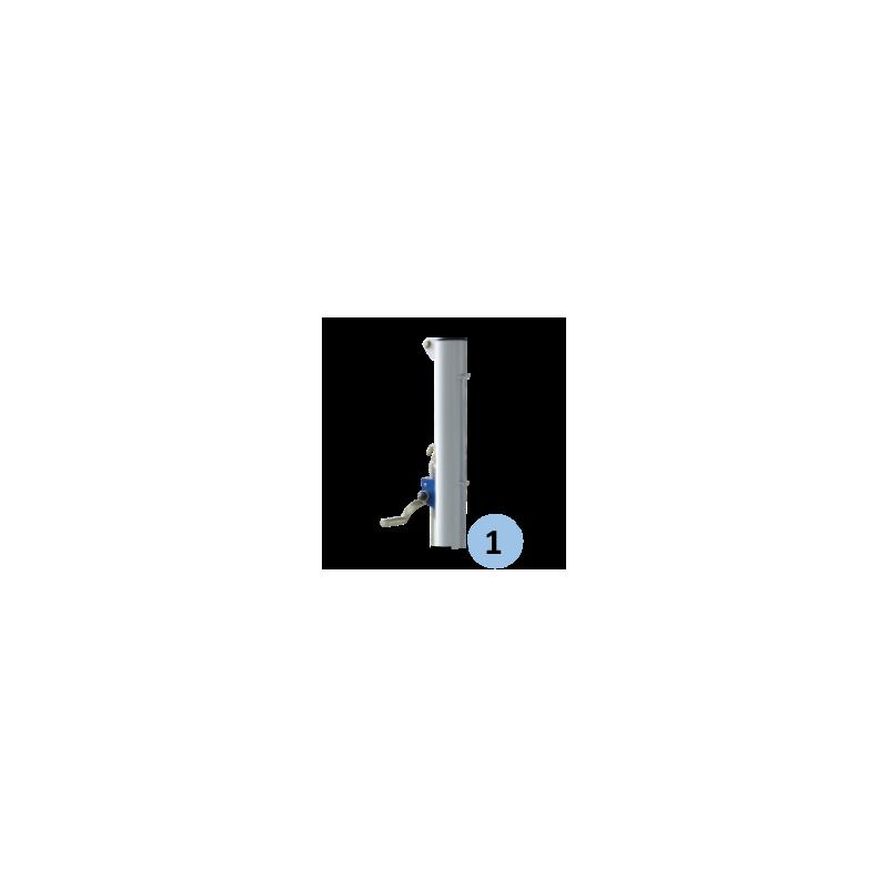 Poteaux de tennis mobiles sur embase en acier galvanisé 90mm (la paire)