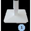Poteaux de badminton scolaires de soutien sur platine (la paire)