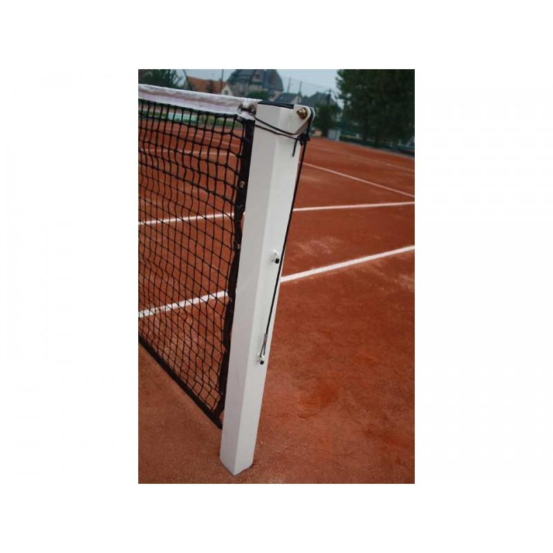 Poteaux de tennis à sceller en acier galvanisé 80x80mm (la paire)