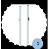 Poteaux de badminton scolaires à sceller, sans fourreaux (la paire)