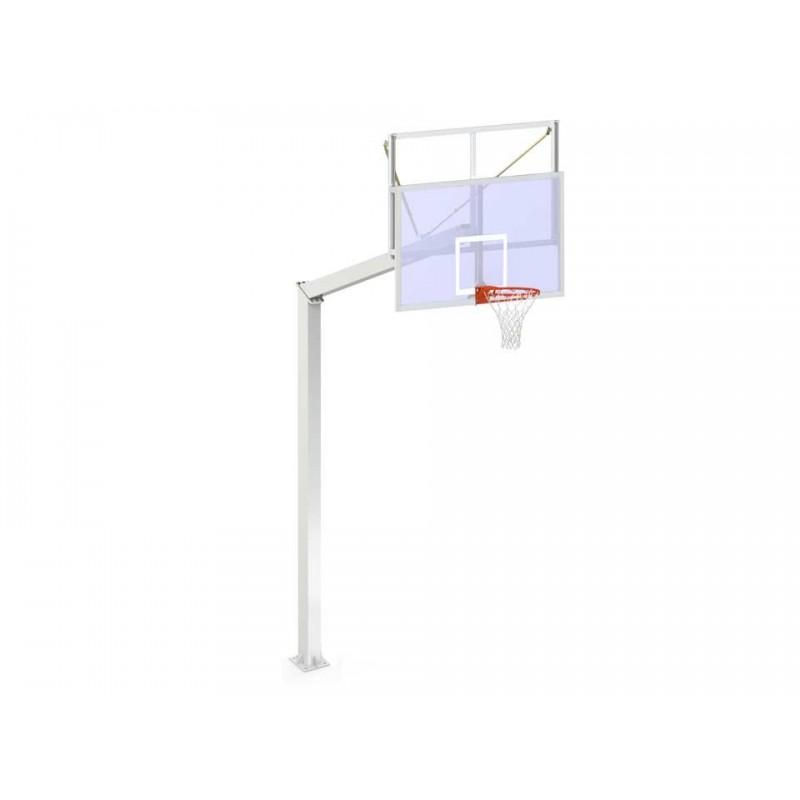 Panier de basket fixe sur platine avec plance transparente 140x140mm (l'unité)