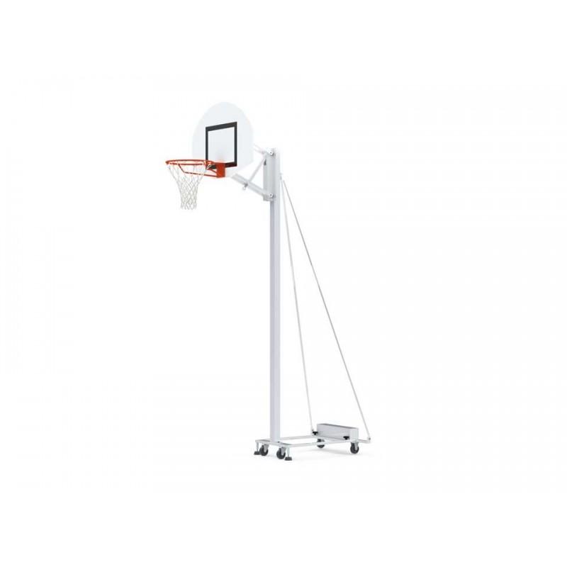 Panier de basket scolaire mobile et d'extérieur avec contrepoids de 38 kg pour garantir la sécurité pendant le transport (l'unit
