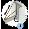 Panier de basket 3x3 mobile d'extérieur sans protection (l'unité)