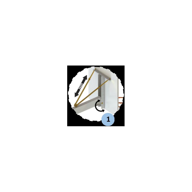 Panier de basket 3x3 mobile d'extérieursans protection (l'unité)