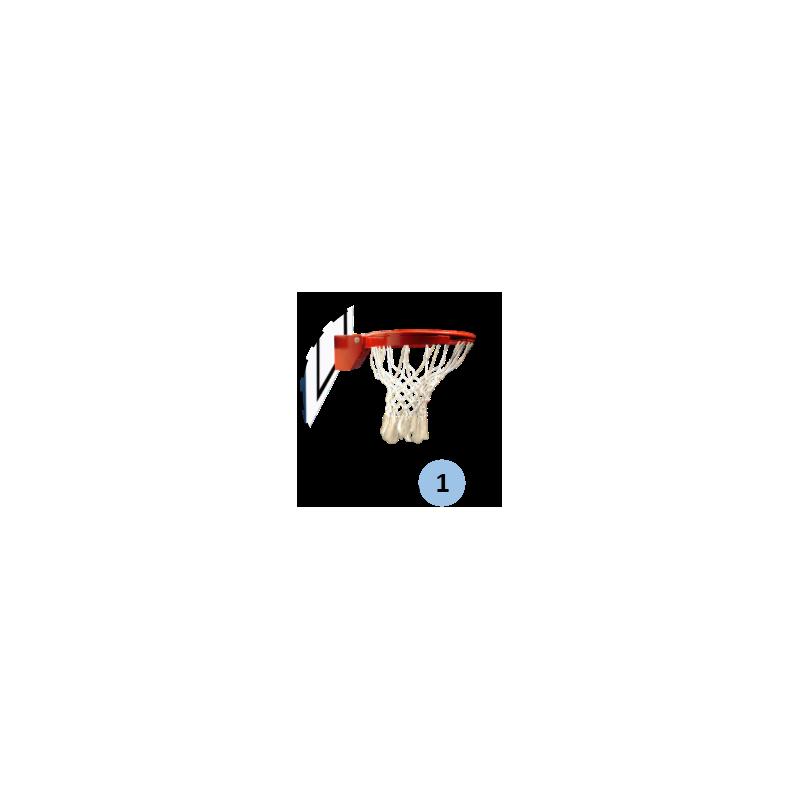 Panier de basket mobile et pliable, 1 position de jeu (l'unité)