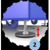 Panier de basket mobile et pliable, 2 positions de jeu (l'unité)