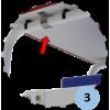 Chaise d'arbitre de badminton en acier galvanisé plastifié blanc avec roues