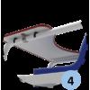 Chaise d'arbitre de badminton Premium en aluminium avec roues