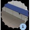 Banc mural avec dossier, porte-patères et porte-sacs (prix au mètre linéaire)