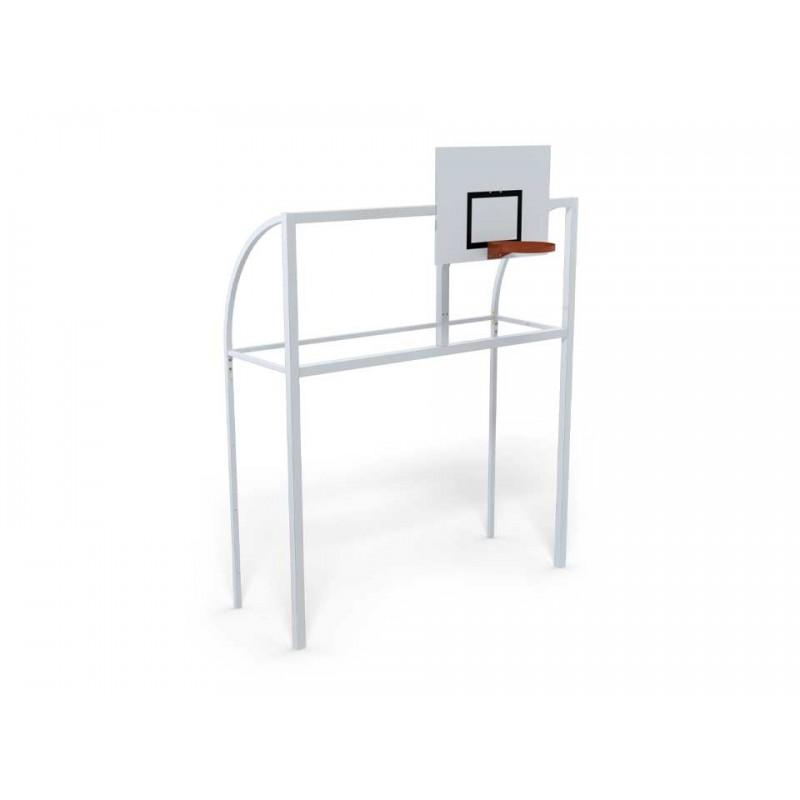 But multijeux premium renforcé Hand/Foot/Basket à sceller directement en acier galvanisé à chaud plastifié (l'unité)