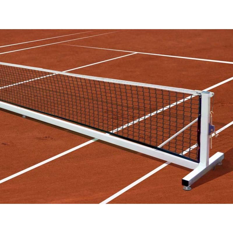 Jeu de poteaux de tennis mobiles en acier galvanisé 80x80mm