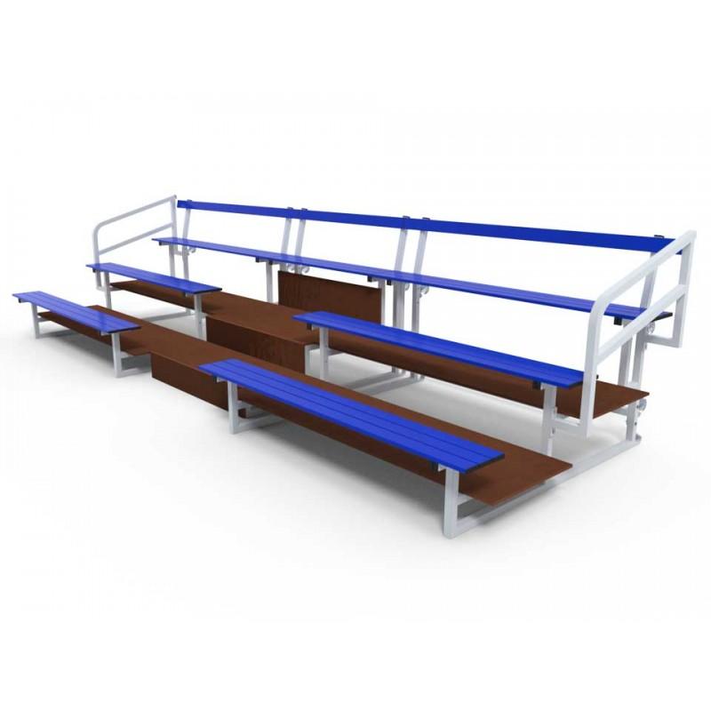 Escalier pour tribune 3 rangs