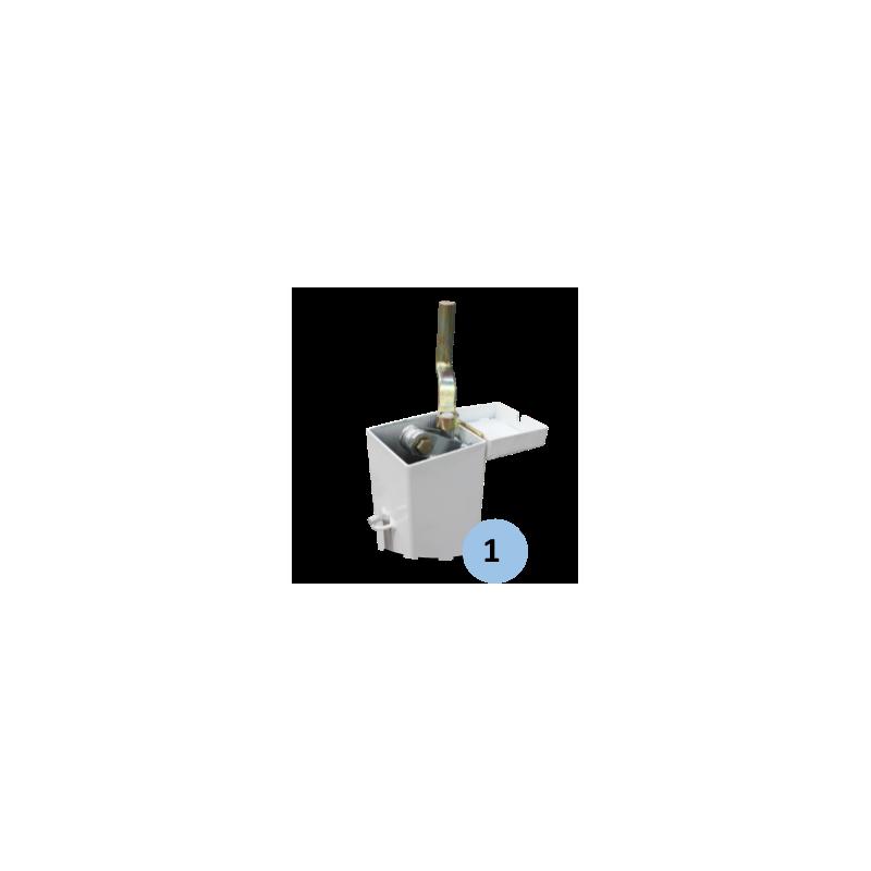 Poteaux de padel sur platine en acier galvanisé 80x80mm avec treuil intérieur (la paire)
