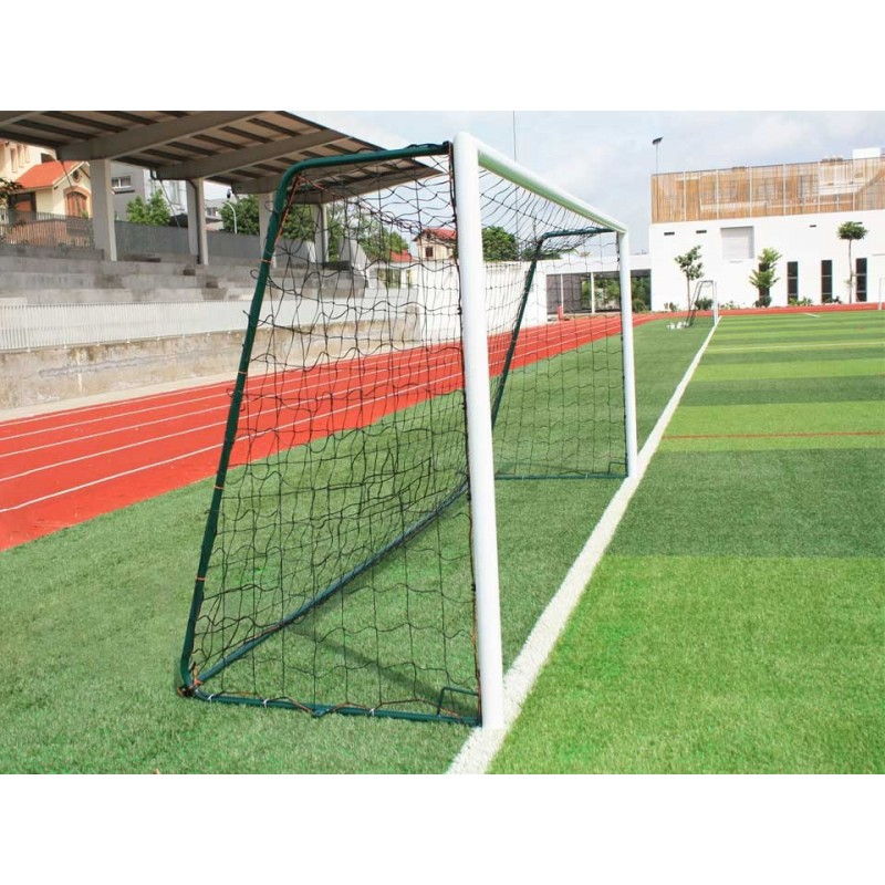 Buts de football à 8 mobiles en aluminium 90mm (la paire)