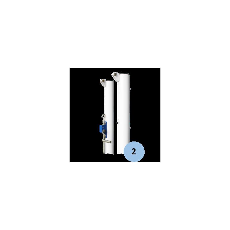 Poteaux de tennis à sceller en acier galvanisé 90mm (la paire)