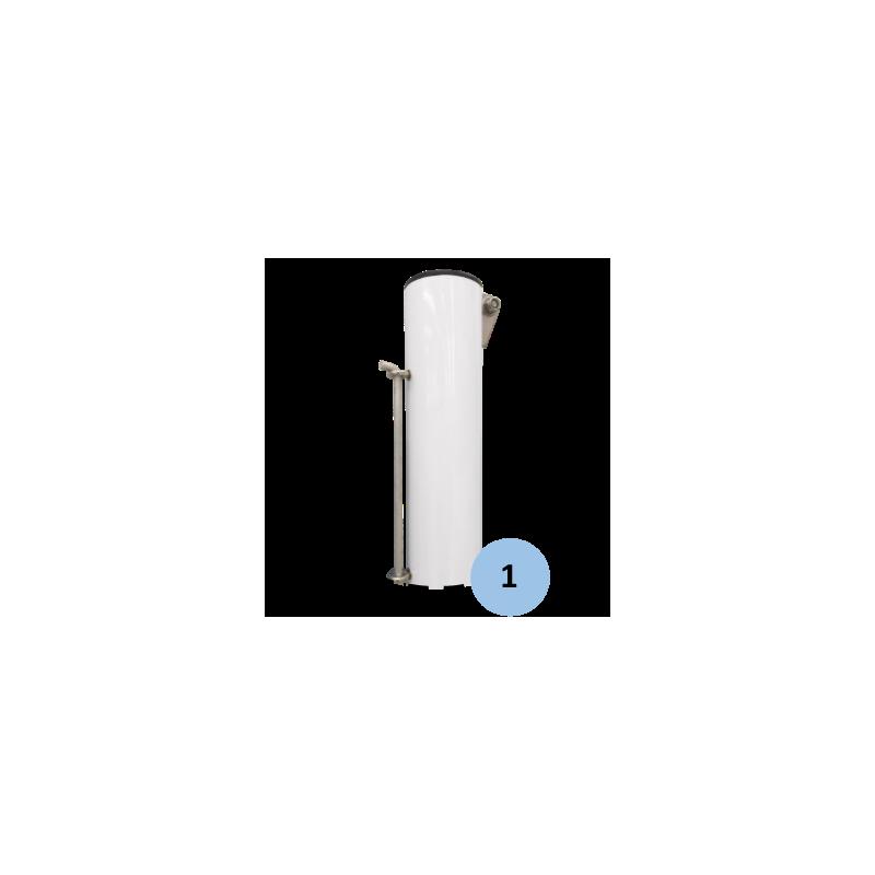 Poteaux de tennis à sceller en aluminium 90mm (la paire)