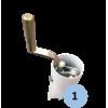 Poteaux de tennis à sceller en acier galvanisé 90mm avec treuil à l'intérieur (la paire)