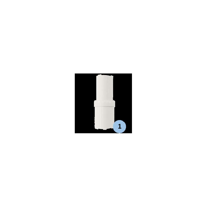 Poteaux de volley-ball Compétition en acier galvanisé télescopiques à sceller 90mm, tension par treuil, Classe A (la paire)