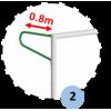 Buts de football à 8 transportables en aluminium 90mm avec oreilles et barres de renfort (la paire)