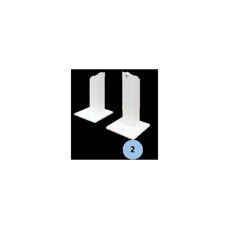 Poteaux de tennis sur platine en acier galvanisé 100x100mm (la paire)