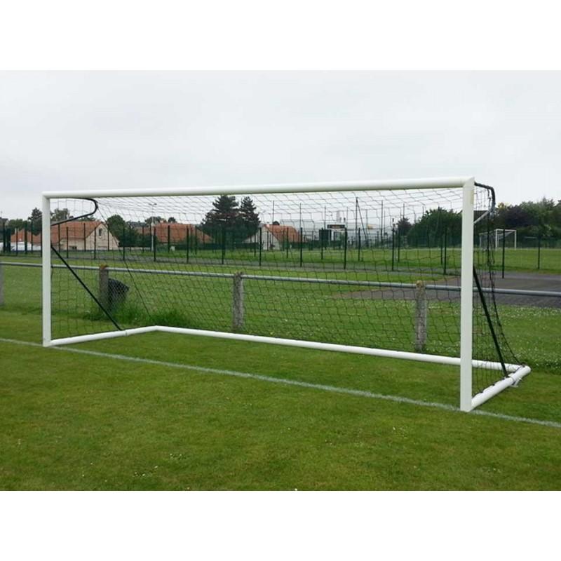 But de football à 8 transportable en aluminium 90mm avec oreilles et barres de renfort (l'unité)