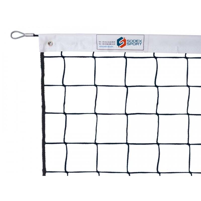 Filet de volley-ball tressé 3,5mm, sans noeud, Tension par cable en acier galvanisé (l'unité)