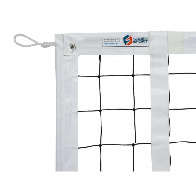 Filet de volley-ball tressé 3mm, Tension par corde kevlar, FIVB (l'unité)