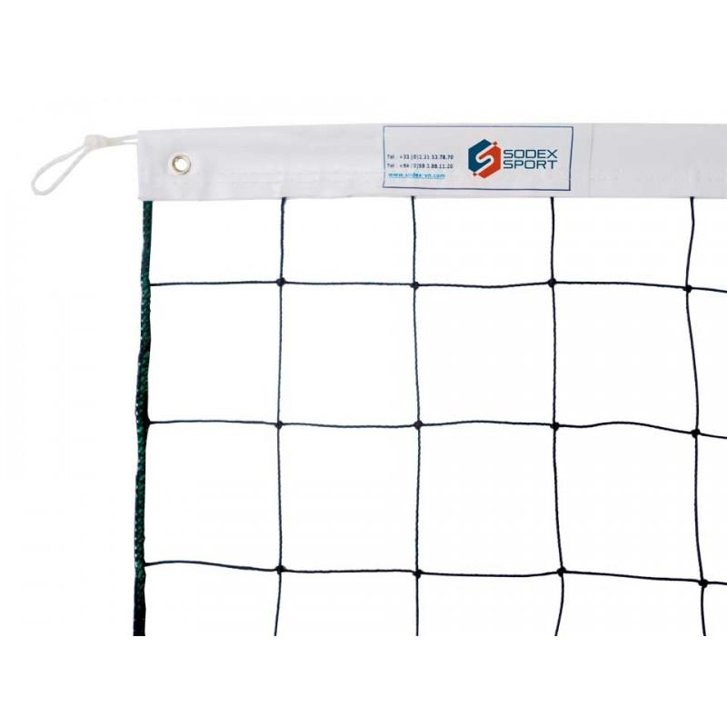 Filet de volley-ball cablé 2mm, Tension par cordeau (lunité)